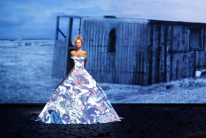 ?It is about how we can take haute couture into the future to ensure it survives,? says Frank Sorbier. ? Photo by Reuters