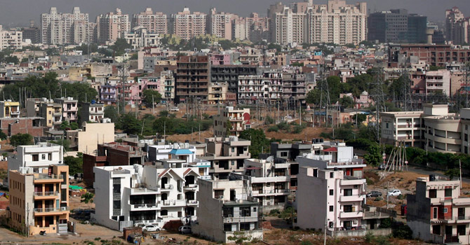 A general view of the residential apartments is pictured at Gurgaon, on the outskirts of New Delhi.—Reuters Photo