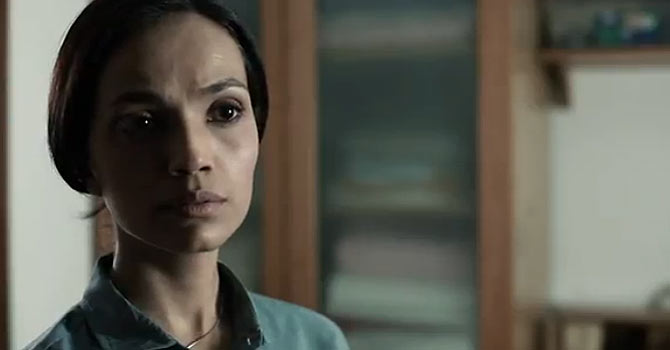 "Aamina Sheikh plays a leading role in the film ""Lamha"" along with her husband Mohib Mirza. – Image taken from film promo"