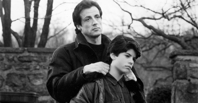 Actor Sylvester Stallone portrays Rocky Balboa in a scene with his real life son, Sage Stallone.—Reuters Photo