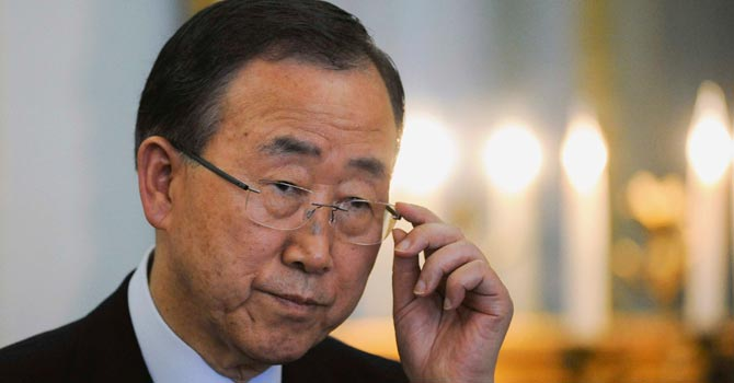 UN Chief Ban Ki-moon — AP Photo