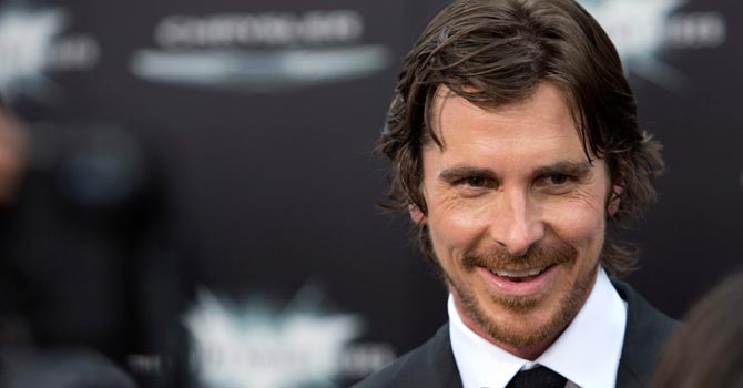 "Cast member Christian Bale attends the world premiere of ""The Dark Knight Rises"" in New York.—Reuters Photo"