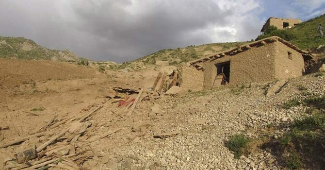 A view of an earthquake site in Afghanistan's Baghlan province June 11, 2012. – Photo by Reuters