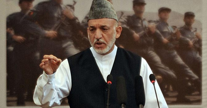 Afghan President Hamid Karzai—AFP Photo