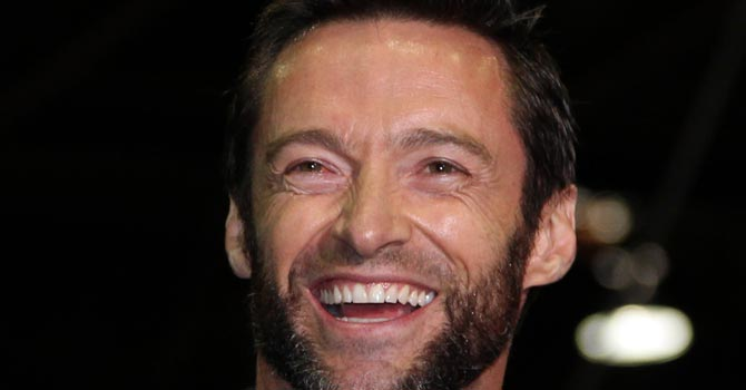 "Hugh Jackman reacts during a press conference ahead of the start of the filming of ""The Wolverine"" movie in Sydney, Australia.—AP Photo"