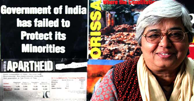 Until 2006, non-Hindus (Christians, Jews and Muslims) living in India could only become guardians of orphaned children and not their legal parent. Pictured, Shabnam Hashmi, a social activist based in New Delhi, has been battling in New Delhi's court system for four years to become the legal parent of her adopted daughter. As a Muslim, Hashmi was only granted guardianship status when she adopted her daughter, Seher, 15 years ago. Even though the law was changed, her case was not grandfathered in. — Photo by Benjamin Gottlieb