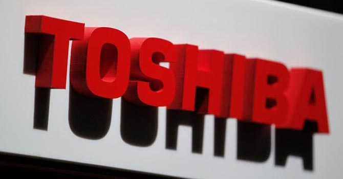 The logo of Toshiba Corp.—Reuters Photo