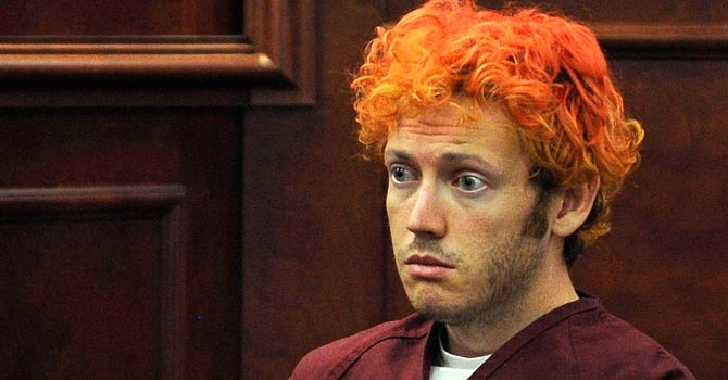 James E Holmes during his appearance at Arapahoe County District Court.—Reuters Photo