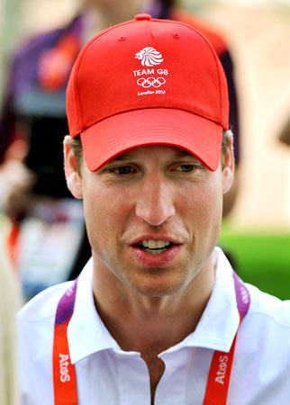 Britain's Prince William visits the accommodation for British athletes in the Athletes Village at Olympic Park in Stratford, east London July 31, 2012. ? Photo by Reuters