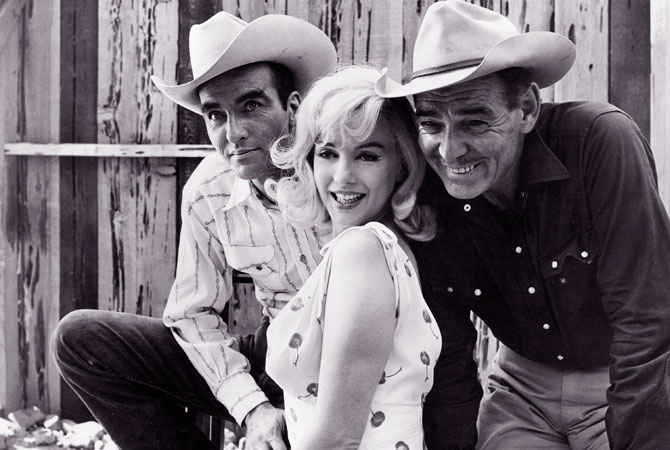 "Actors (L-R)  Montgomery Clift, Marilyn Monroe, and Clark Gable are shown in this undated publicity photograph from their 1961 film ""The Misfits"", directed by John Huston with music by composer Alex North. Hollywood will mark the 50th anniversary of the death of the iconic star on August 5, 2012.  — Reuters Photo"