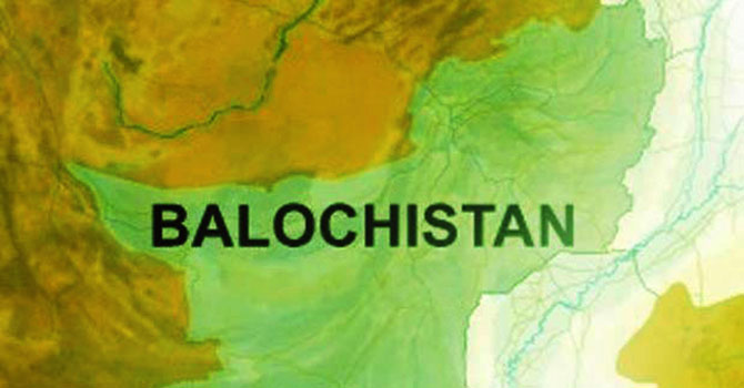 Map showing Balochistan province of Pakistan.— File Photo