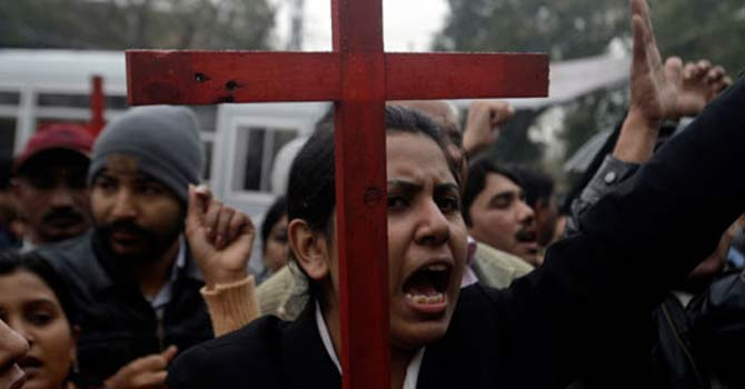 Christians protesting — File Photo