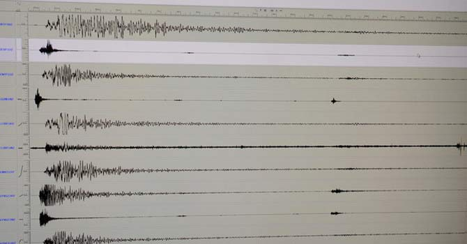 Seismic waves – File photo