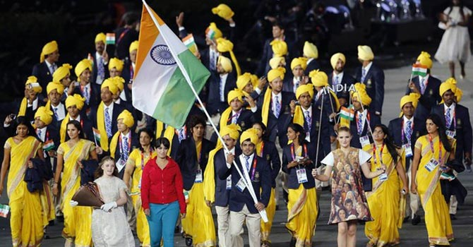 An unidentified woman with India Olympics delegation — Reuters Photo