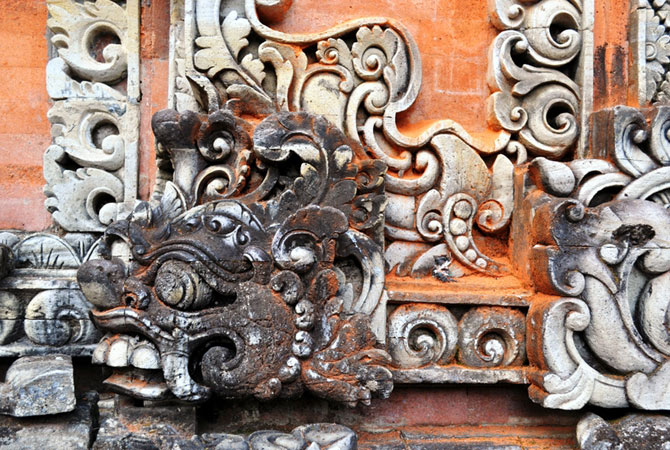 "Hand-carved to perfection, the stone carvings on the homes and temples of this ""Island of gods"" are labours of love."