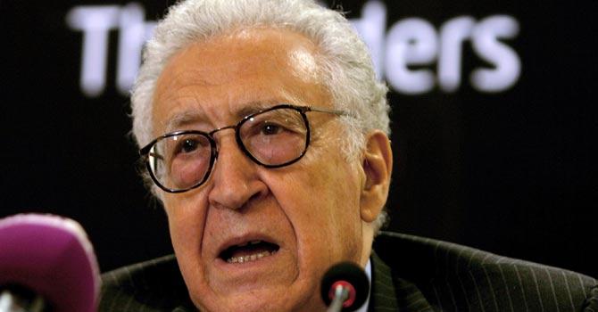 Lakhdar Brahimi — AFP