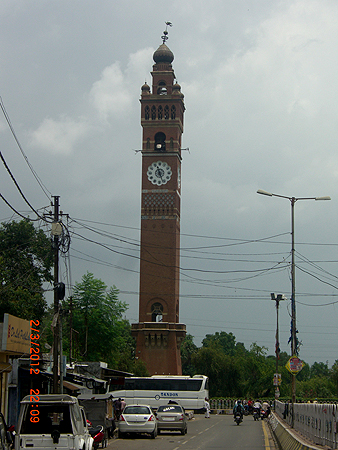 The Clock Tower or Ghanta Ghar built by Nawab Nasir uddin Haider. Its construction was completed in the year 1887 and was built to commemorate the arrival of Sir George Couper, 1st Lieutenant Governor of the United Province of Oudh.