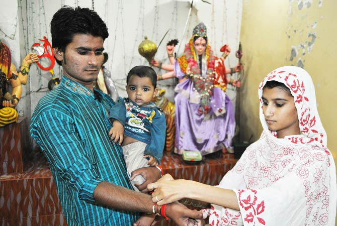 The Rakhi thread symbolises the love between siblings. - File Photo