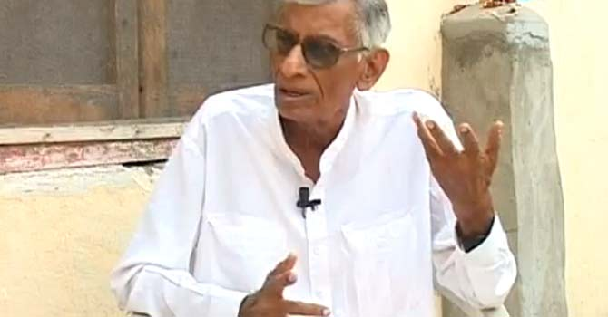 Shamsher-ul-Hyderi speaks during an interview. – Photo from YouTube video grab