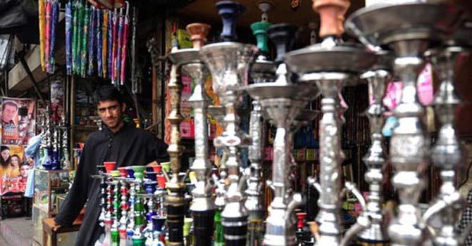 Assortment of water pipes commonly knows as Shisha. — File Photo