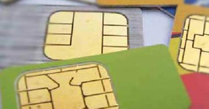 SIM cards — File Photo