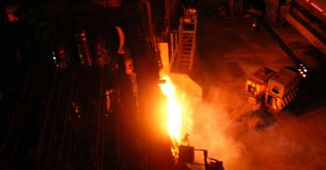 View of a Steel mill – File photo courtesy Creative Commons