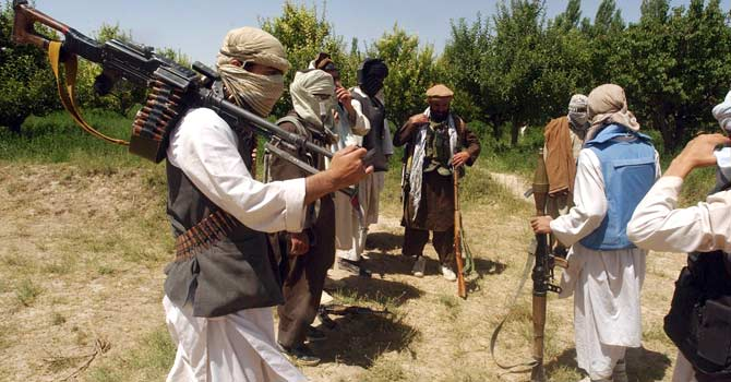 Taliban fighters are seen in an undisclosed location in Afghanistan. – File photo by AFP