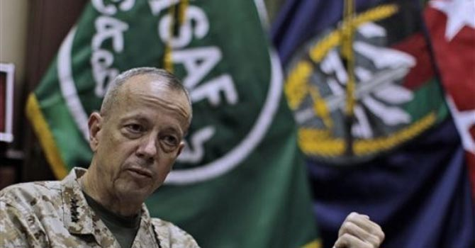 US Marine Gen John Allen — AP Photo