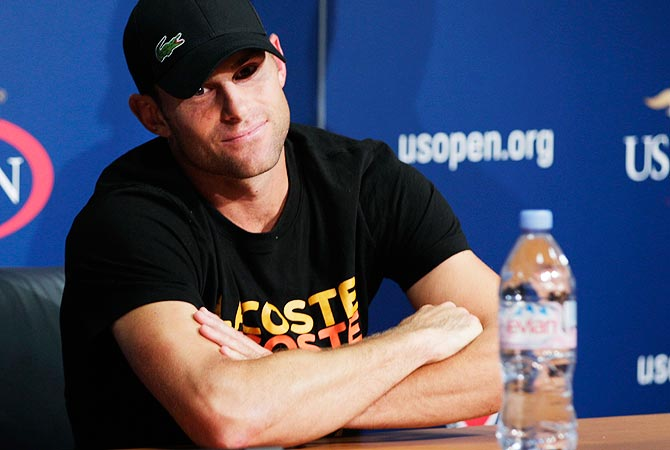 Andy Roddick speaks during a news conference announcing his retirement. -Photo by Reuters