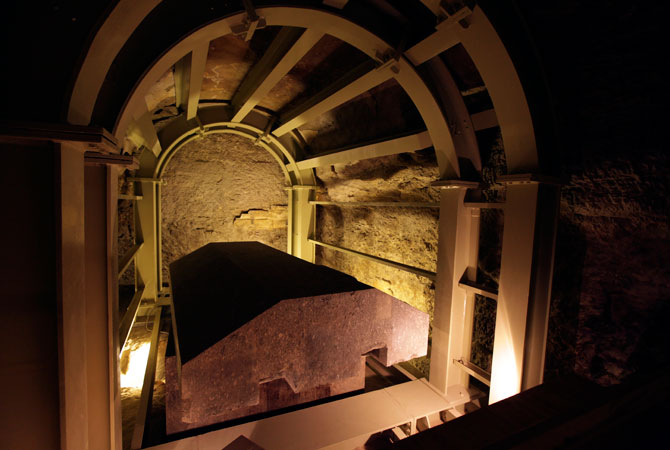 The Serapeum, dates back to around 1400 BC, was discovered in 1851 by French Egyptologist Auguste Mariette, founder of the first department of Egyptian antiquities. ? Photo by AP