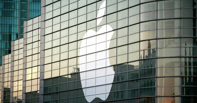 A file photo shows the Apple logo on a building in San Francisco. Apple won more than $1 billion in a massive victory on August 25, 2012 – File photo by AFP