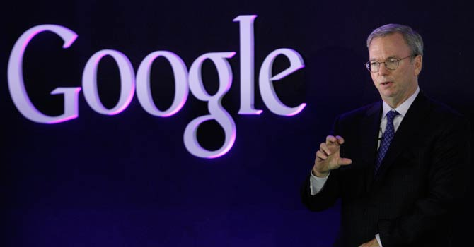 Google Executive Chairman Eric Schmidt speaks at a promotional event for the Nexus 7 tablet in Seoul September 27, 2012.