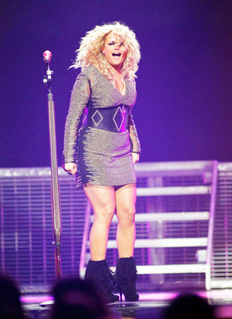 Country music star Miranda Lambert performs.