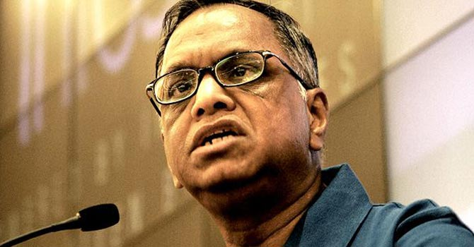 Chairman Emeritus Infosys NR Narayana Murthy – File photo by AFP