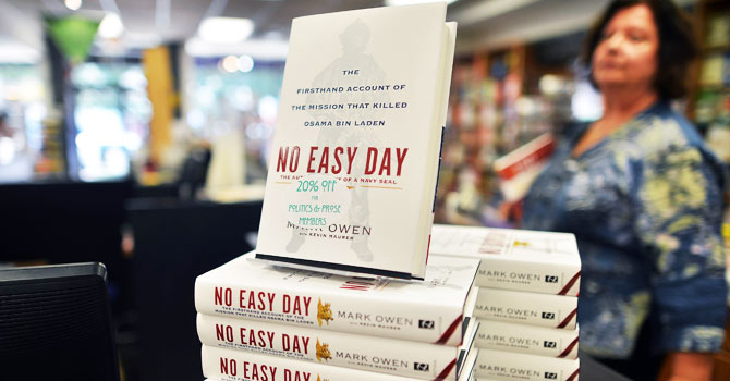 No easy day, seal book, bin laden raid, navy seal, osama bin laden, pentagon, Defense Department, Matt Bissonnette, mark owen