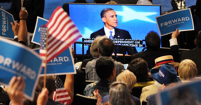 Obama, obama convention, obama acceptance speech, obama tv audience, obama twitter, Democratic convention, obama campaign