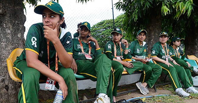 Pakistan's women's cricket team at the World Twenty20 in Sri Lanka – Photo by Reuters
