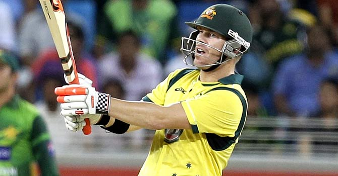 David Warner top score for Australia with 57. - Photo by AP