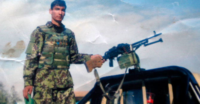 Welayat Khan, an Afghan army soldier who killed US soldiers Specialist Mabry Anders and Sergeant Christopher Birdwell in Afghanistan on August 27, 2012, is seen in this undated handout photograph provided by his family. – Photo by Reuters