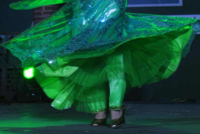 Uzbekistan dancer Dilaf Ruz performs during the inauguration ceremony of 'International Sufi Festival-2012' in  Amritsar. ?AFP Photo