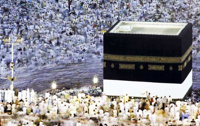 Pilgrims circle the Kaaba. ? Photo by Reuters