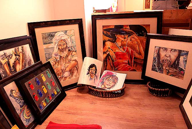 Art work by Mishaal Rinch. — Photo by Shameen Khan/Dawn.com