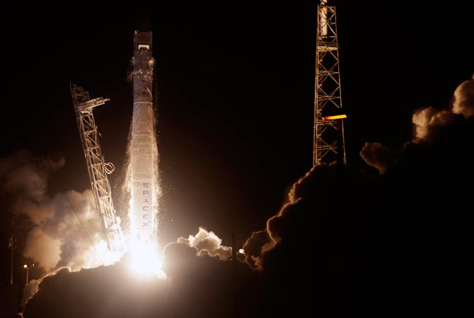 SpaceX's Falcon 9 rocket blasts off from Cape Canaveral, Florida. – Photo by AFP
