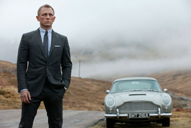 "A publicity file photo released by Columbia Pictures shows Daniel Craig as James Bond in the action adventure film, ""Skyfall."" Just a couple of years ago, production was derailed on ""Skyfall,"" the 23rd movie in the series, while partner Metro-Goldwyn-Mayer Inc. plunged into bankruptcy. MGM emerged in early 2011 with a hefty bankroll that allowed shooting to resume."