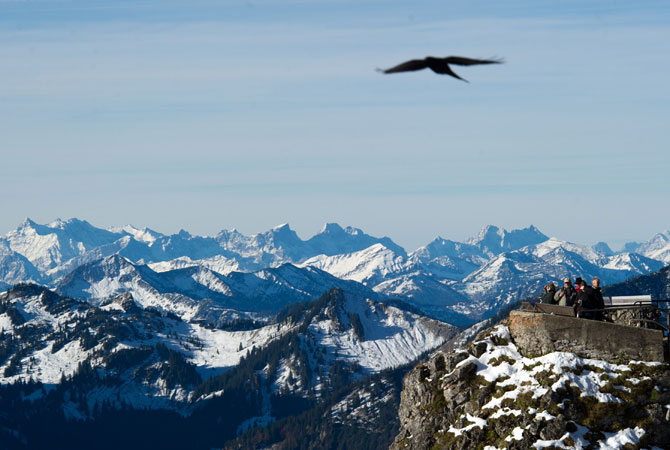 With a height of 1,838 meters, the Wendelstein is the highest peak of the Wendelstein massiv in the Bavarian Alps. ? Photo by AFP