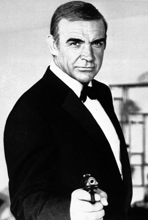 "This undated file photo shows Sean Connery as James Bond in ""Never Say Never Again"". The film ""Never Say Never Again,"" a 1983 remake of ""Thunderball,"" has its ironic title, because it brought Connery back as Bond after a 12-year hiatus."