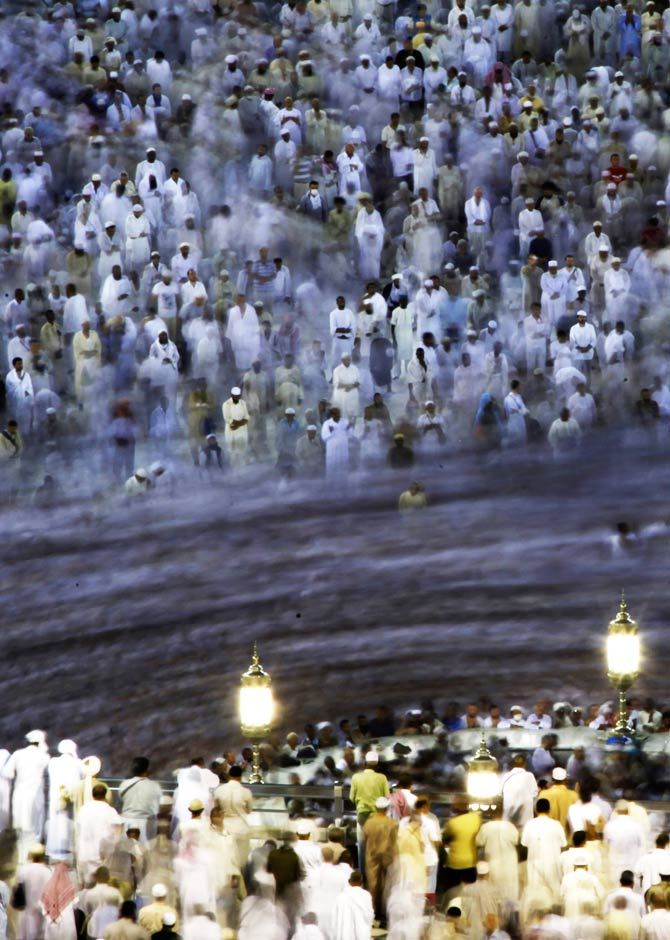 Muslims circle the Kaaba and pray at the Grand mosque during the annual haj pilgrimage. ? Photo by Reuters