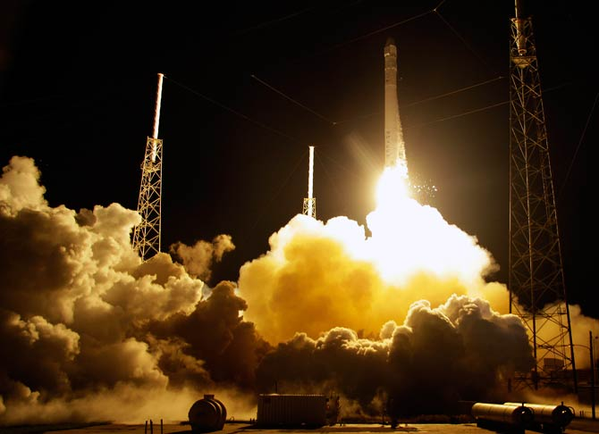 The rocket is carrying supplies to the International Space Station. – Photo by AP