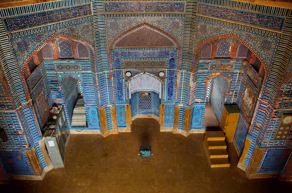 Another view of the main hall of the mosque, from a window in the dome on the roof. - Photo by Sara Faruqi/Dawn.com
