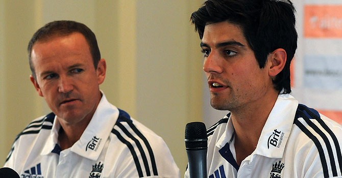 alastair cook, andy flower, england's tour of india, england india test series